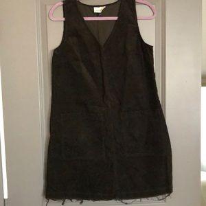 Corduroy shift dress